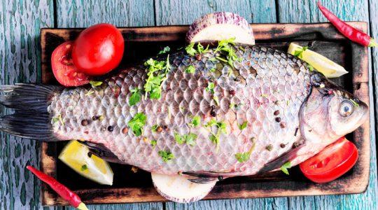 Fresh raw carp