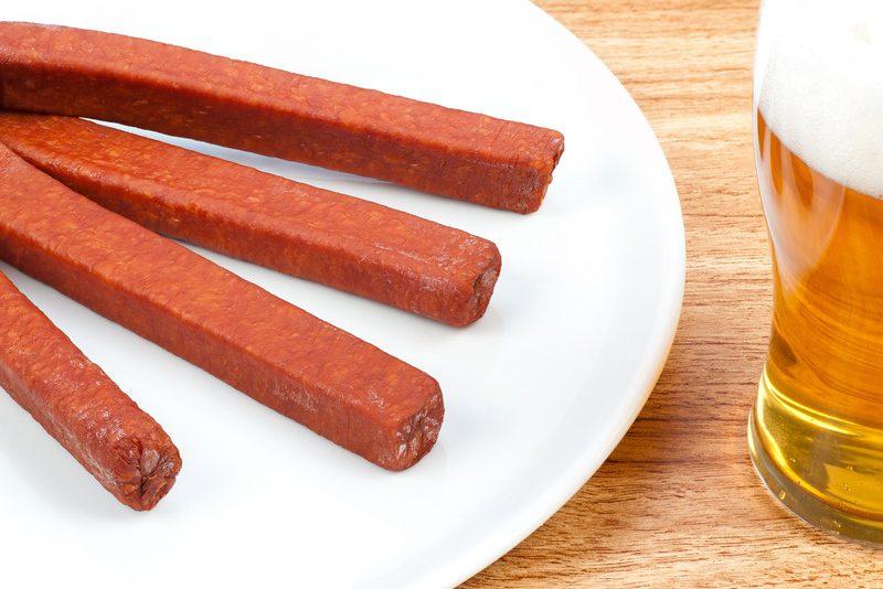 Landjaeger sausage
