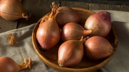 Raw Organic Shallot Onions Ready to Use