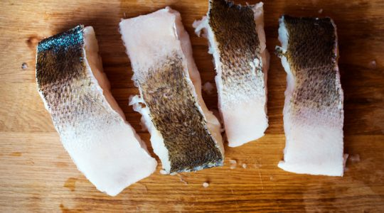 Raw zander fillets