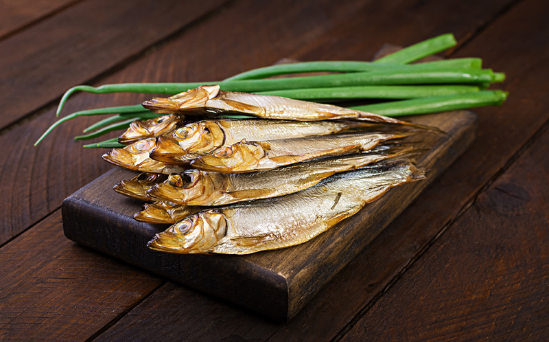 Smoked Sprat and Green Onion